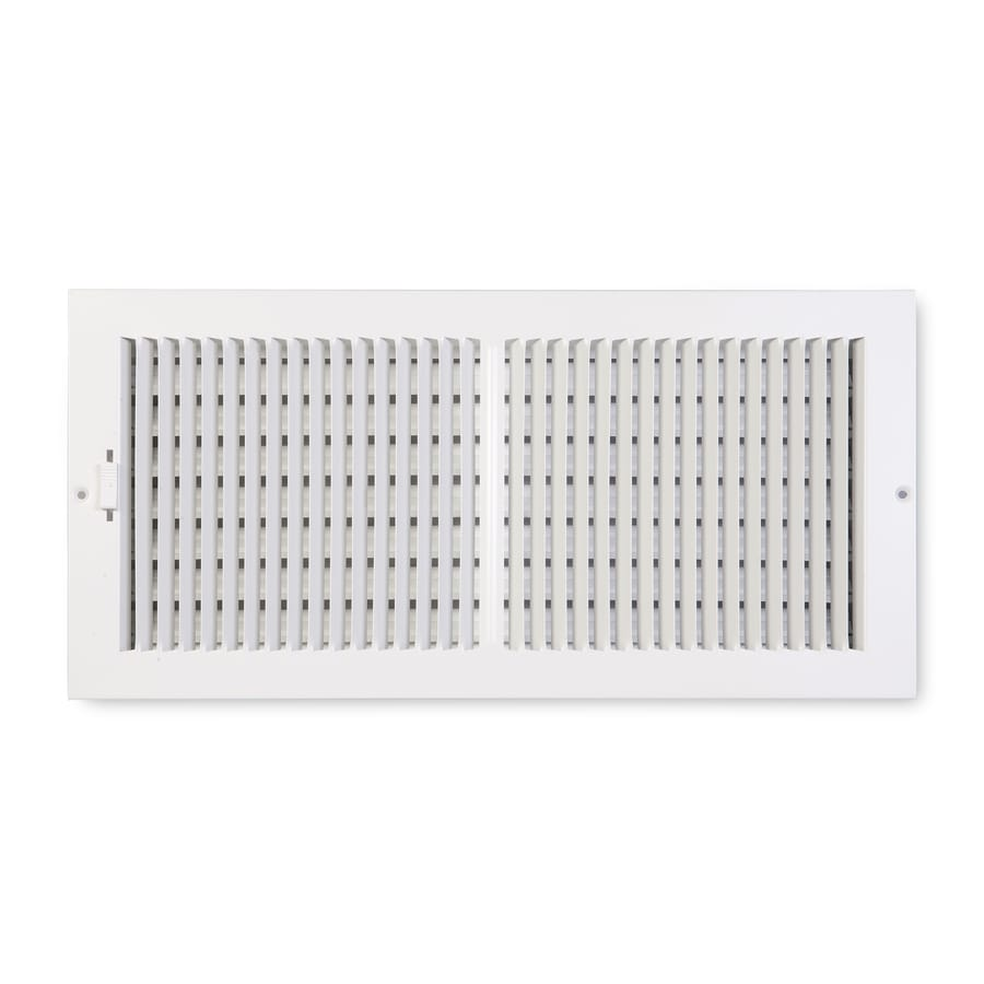 Accord Ventilation 202 Painted Steel Sidewall/Ceiling Register (Rough Opening: 20-in x 8-in; Actual: 21.75-in x 9.75-in)