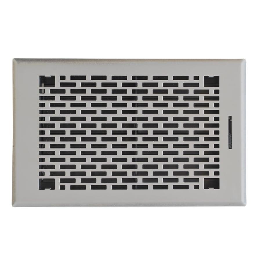 Accord Select Manhattan Satin Nickel Steel Floor Register (Rough Opening: 10-in x 6-in; Actual: 11.42-in x 7.37-in)