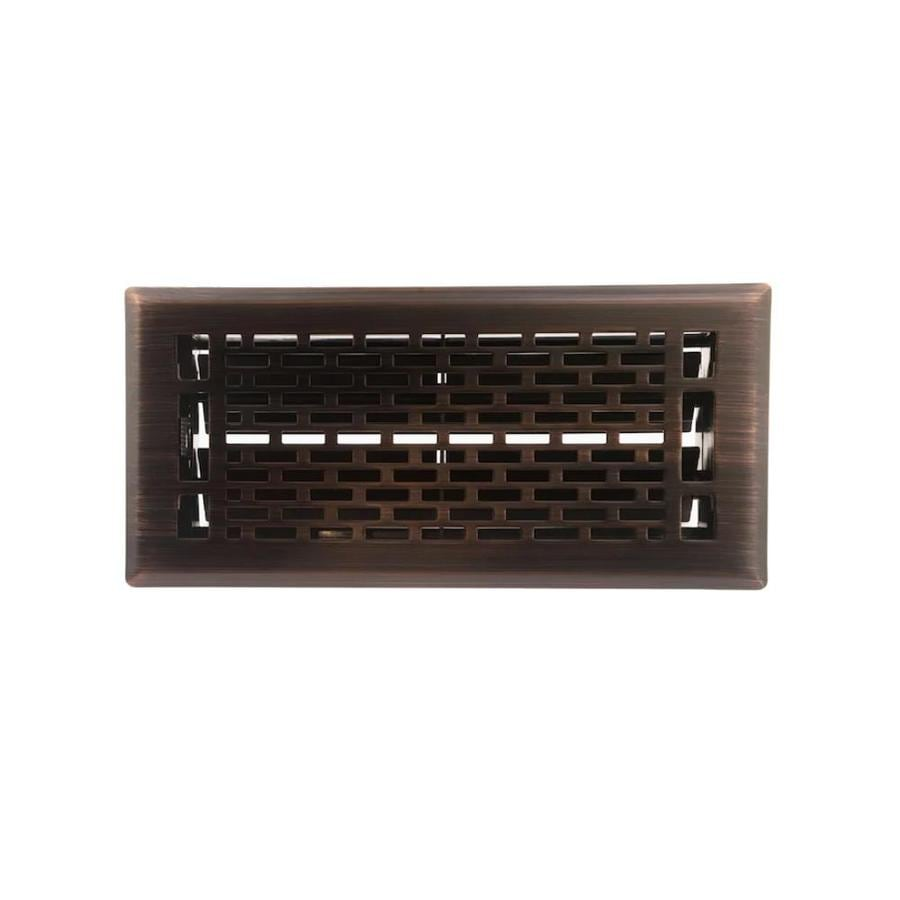 Accord Select Manhattan Oil-Rubbed Bronze Steel Floor Register (Rough Opening: 4-in x 10-in; Actual: 5.38-in x 11.42-in)