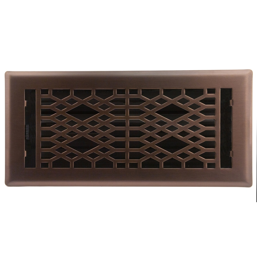 Accord Select Cathedral Oil-Rubbed Bronze Steel Floor Register (Rough Opening: 4-in x 10-in; Actual: 5.37-in x 11.42-in)