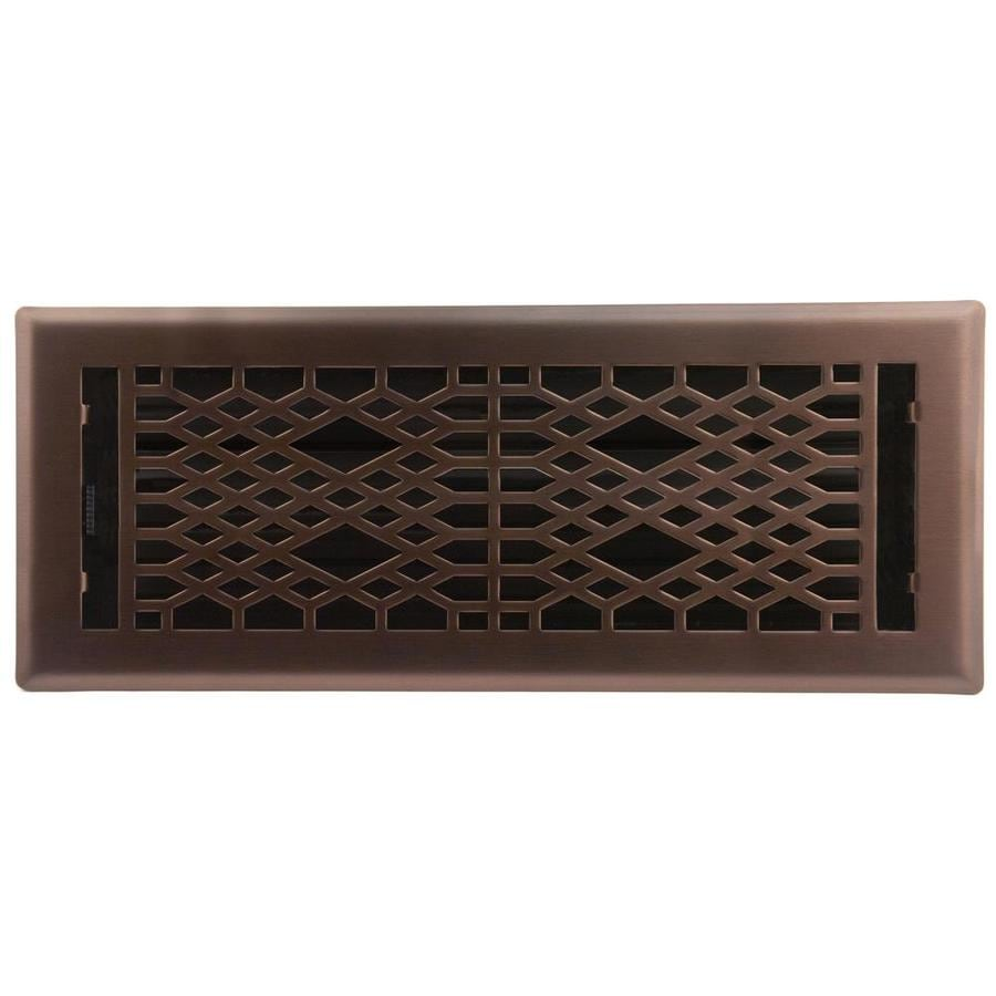 Accord Select Cathedral Oil-Rubbed Bronze Steel Floor Register (Rough Opening: 4-in x 12-in; Actual: 5.37-in x 13.42-in)
