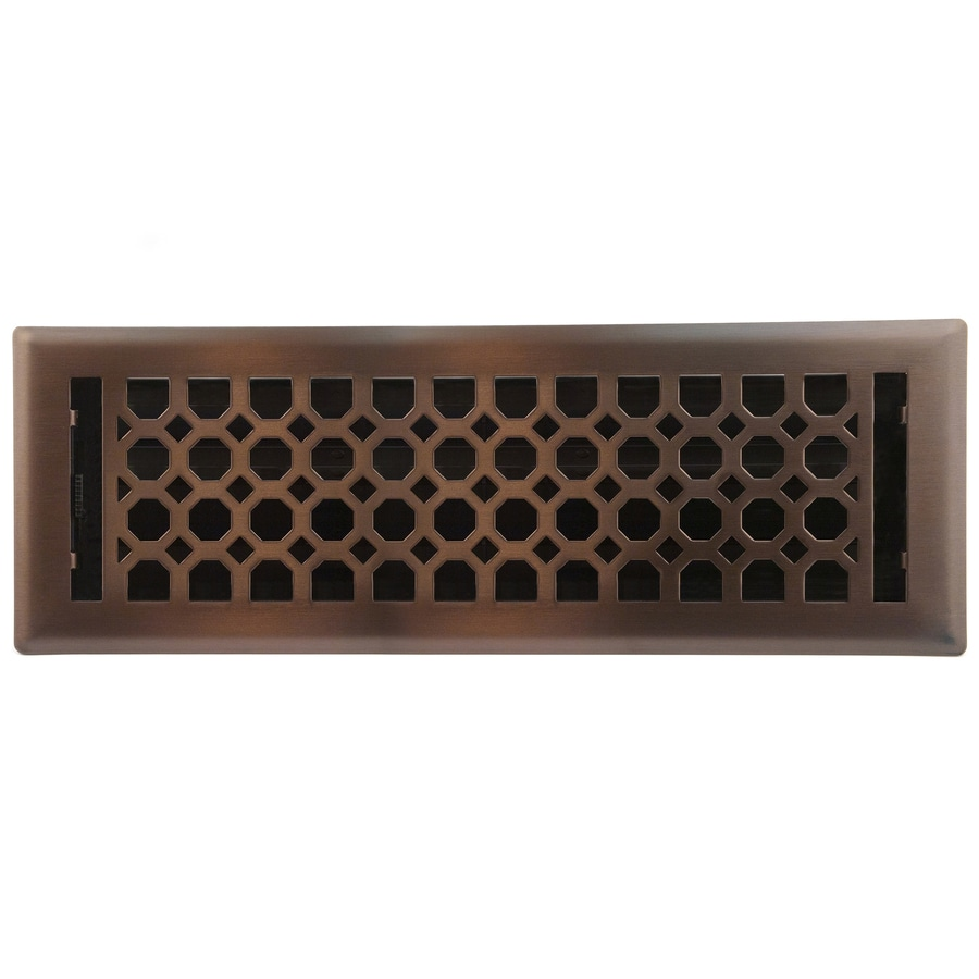 Accord Select Charlotte Oil-Rubbed Bronze Steel Floor Register (Rough Opening: 4-in x 14-in; Actual: 5.37-in x 15.42-in)