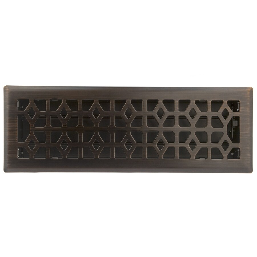 Accord Select Marquis Oil-Rubbed Bronze Steel Floor Register (Rough Opening: 14-in x 4-in; Actual: 15.42-in x 5.39-in)