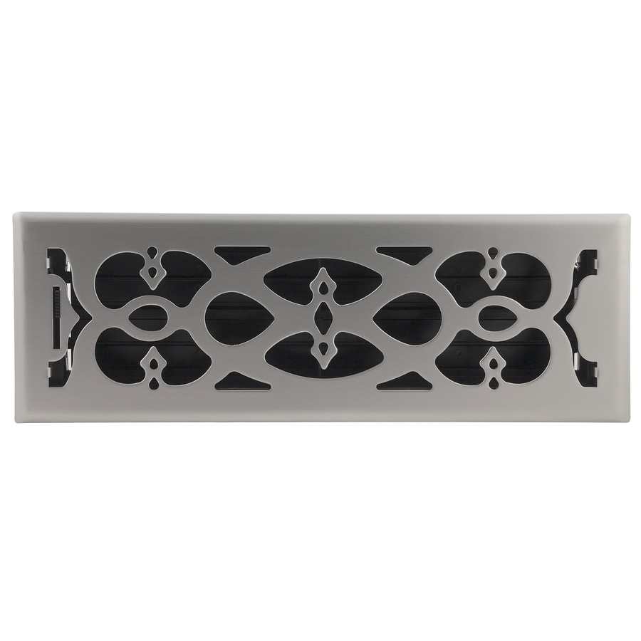 Accord Select Victorian Satin Nickel Steel Floor Register (Rough Opening: 14-in x 4-in; Actual: 15.42-in x 5.37-in)