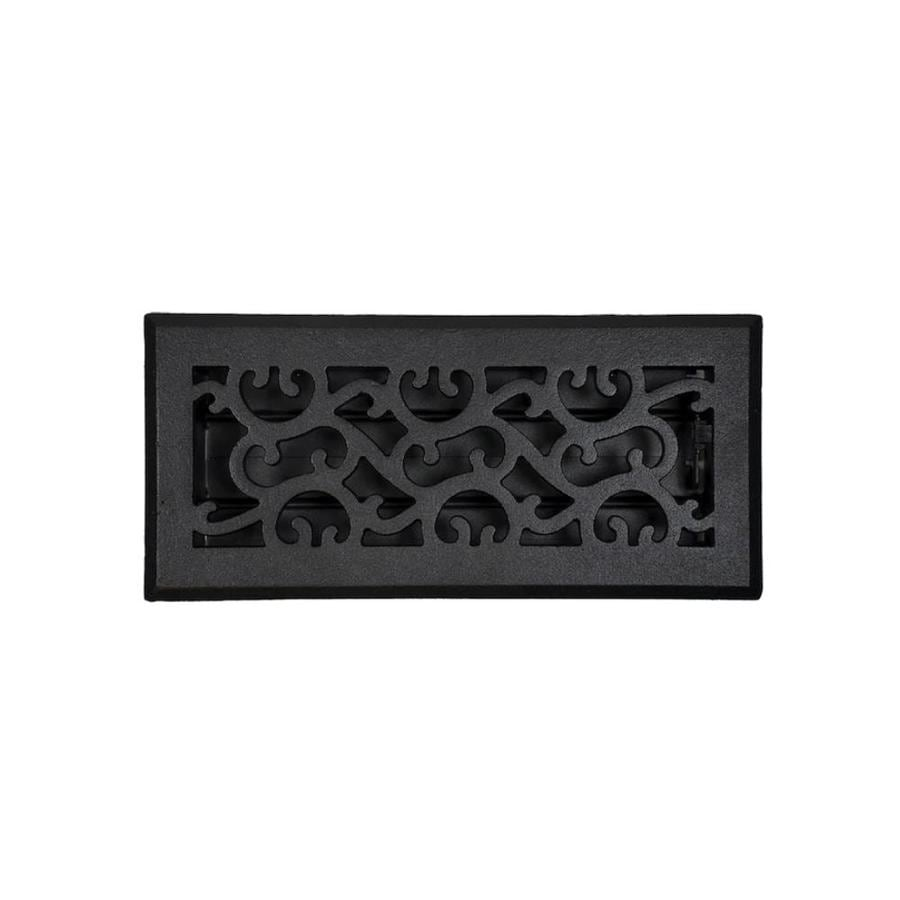 Accord Select Charleston Black Cast Iron Floor Register