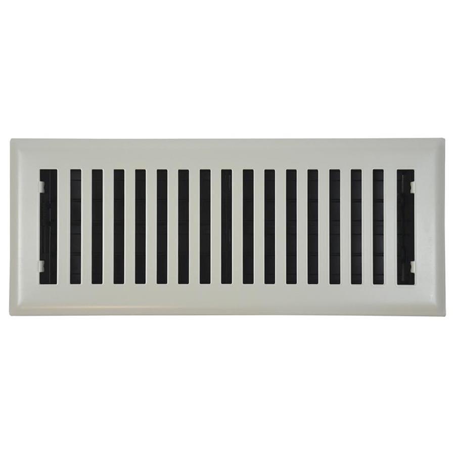 Accord Brooklyn Painted Steel Floor Register (Rough Opening: 12-in x 4-in; Actual: 13.42-in x 5.37-in)