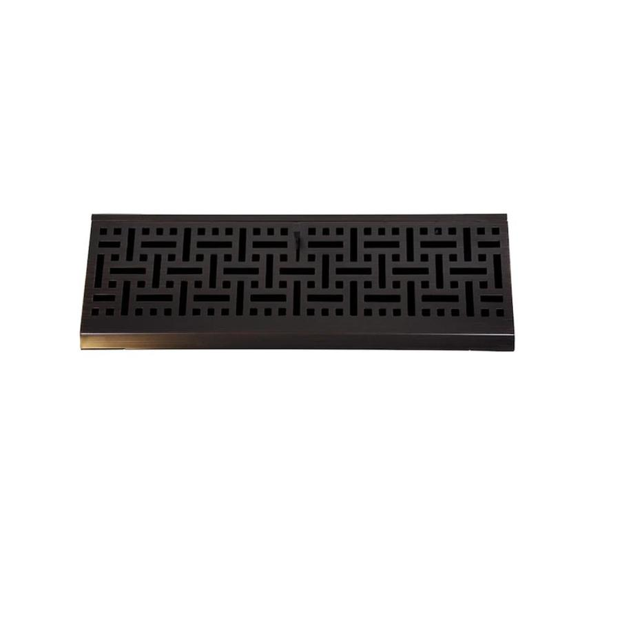 Accord Select Wicker Oil-Rubbed Bronze Steel Baseboard Register (Rough Opening: 12-in x 2.5-in; Actual: 15-in x 2.75-in)