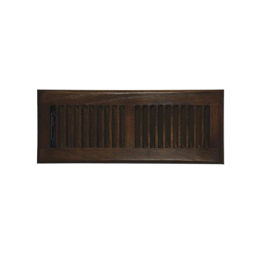 Accord Select Oak Stained Wood Floor Register (Rough Opening: 12-in x 4-in; Actual: 13.22-in x 5.24-in)