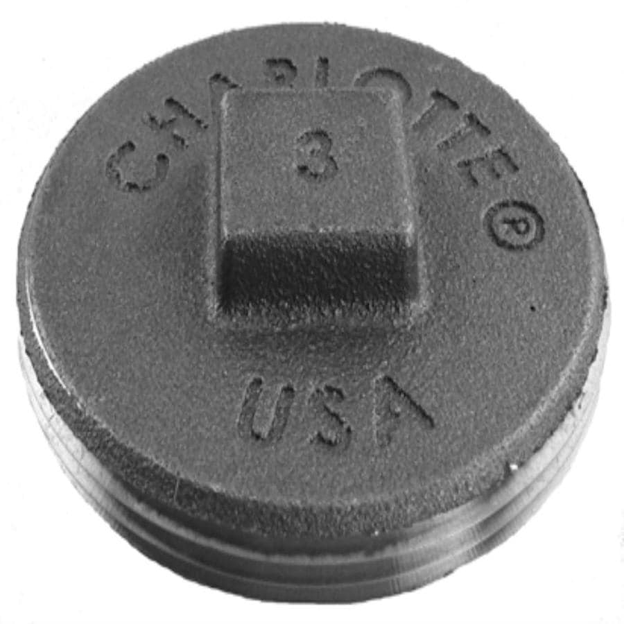 Charlotte Pipe 4-in dia Brass Plug Cast Iron Fitting