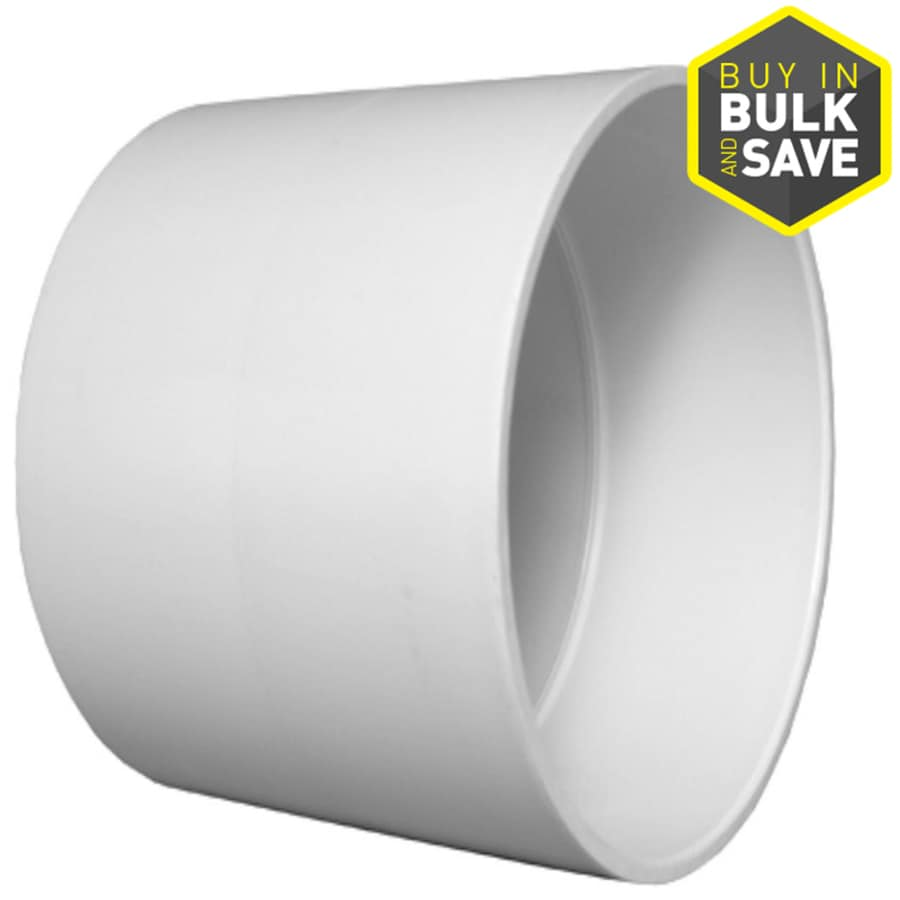 Charlotte Pipe 4-in dia PVC Coupling Fitting