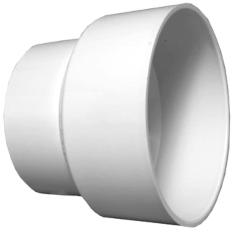 Charlotte Pipe 3-in x 4-in dia PVC Adapter Coupling Fitting