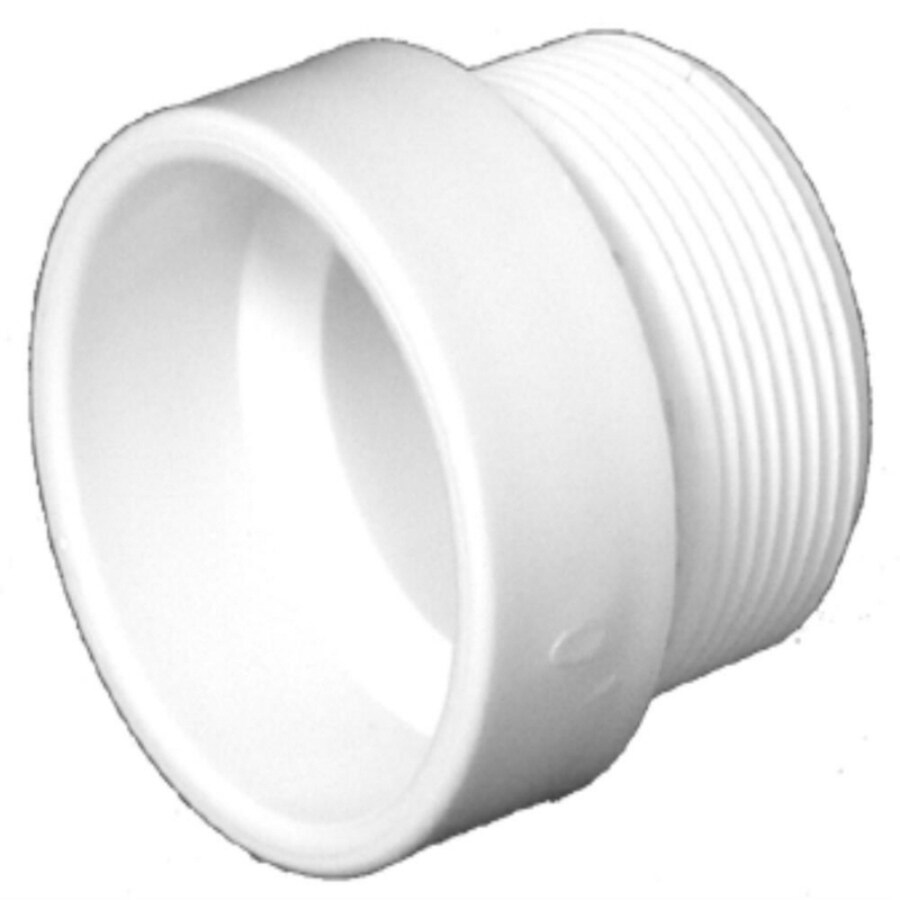 Charlotte Pipe  In X  In Pvc Schedule 40 Hub Trap Adapter Fitting