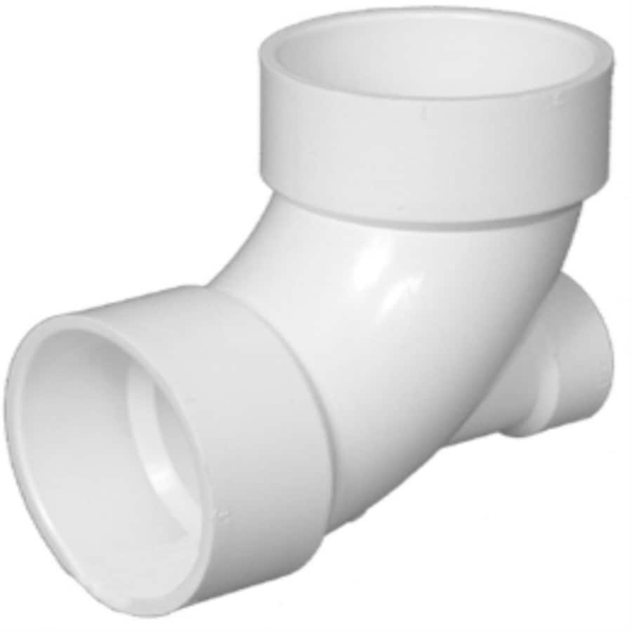 Charlotte Pipe 3-in x 3-in x 2-in dia 90-Degree PVC Elbow with Low Heel Inlet Fitting