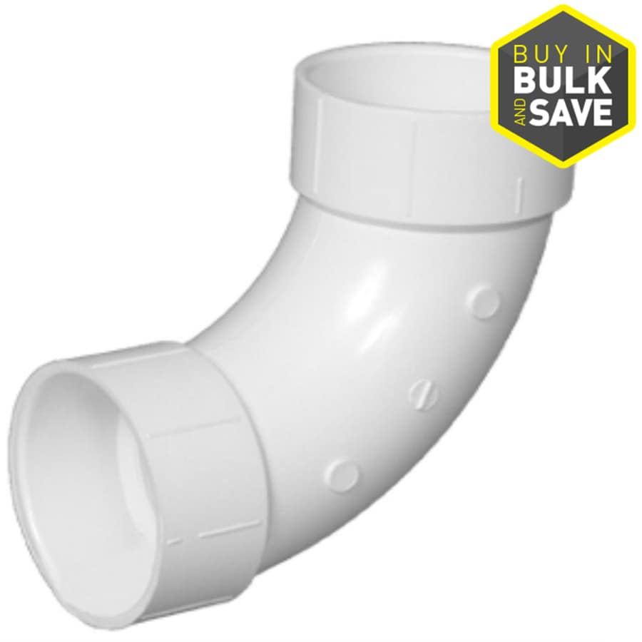 Charlotte Pipe 3-in dia 90-Degree PVC Elbow Long Sweep Fitting