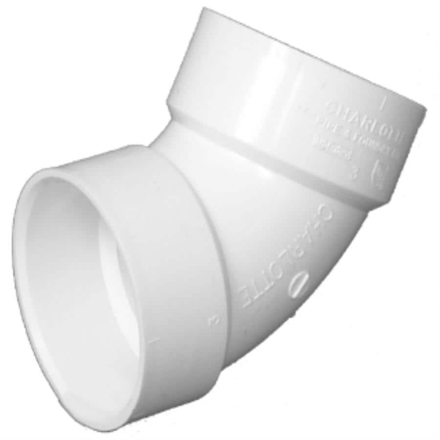 Charlotte Pipe 3-in Dia 60-Degree PVC Elbow Fitting