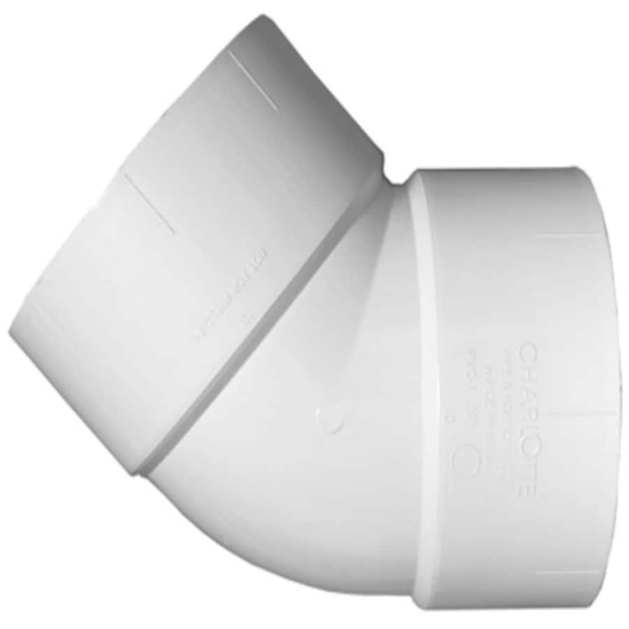 Charlotte Pipe 4-in dia 45-Degree PVC Elbow Fitting