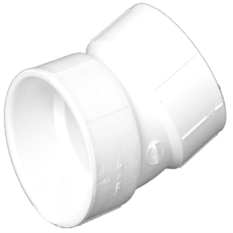 Charlotte Pipe 1-1/2-in dia 22-1/2-Degree PVC Elbow Fitting