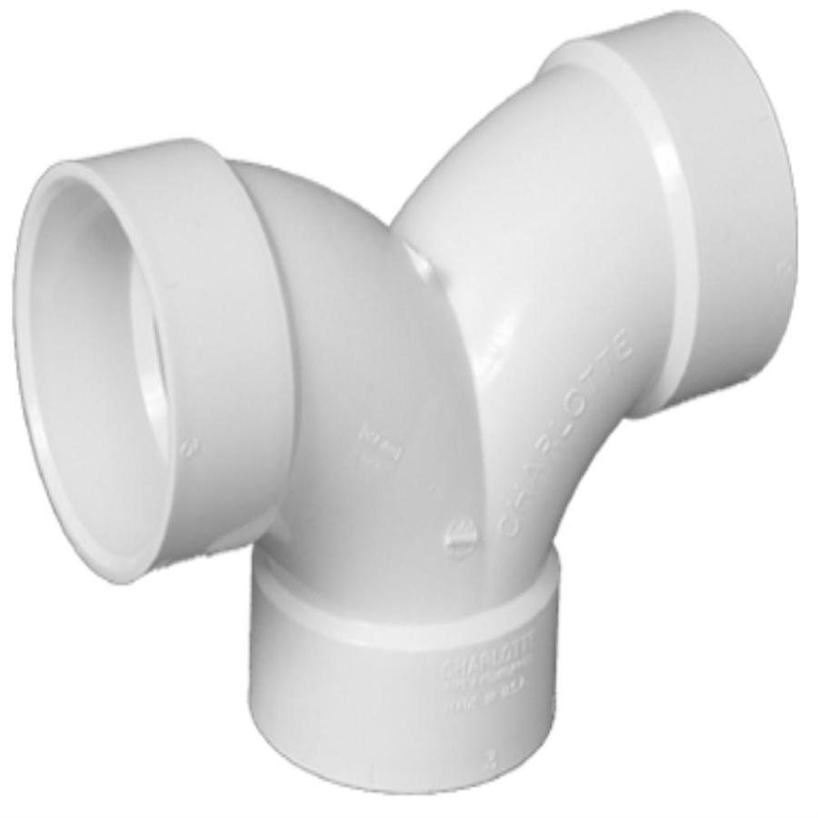 Charlotte Pipe 2-in x 1-1/2-in x 1-1/2-in dia 90-Degree PVC Elbow Fitting