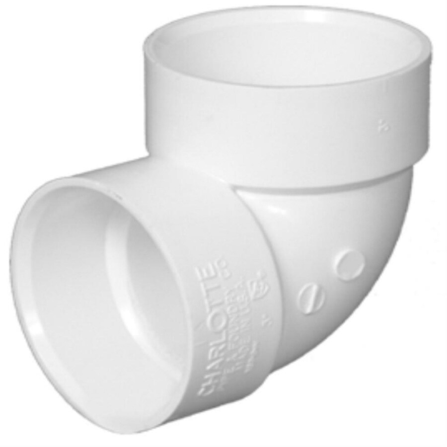 Charlotte Pipe 3-in Dia 90-Degree PVC Vent Elbow Fitting
