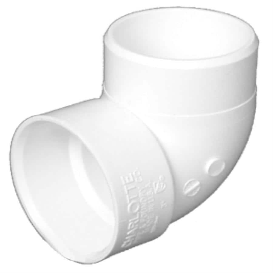 Charlotte Pipe 3-in dia 90-Degree PVC Street Elbow Fitting
