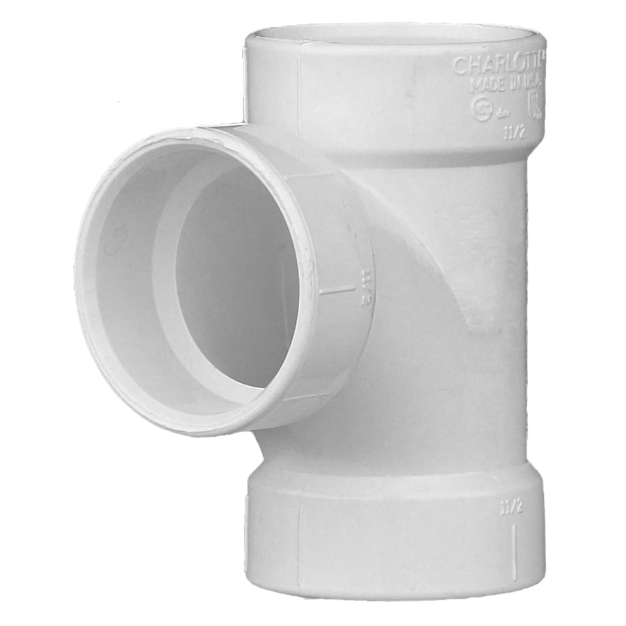 Charlotte Pipe 1-1/2-in Dia PVC Sanitary Tee Fitting
