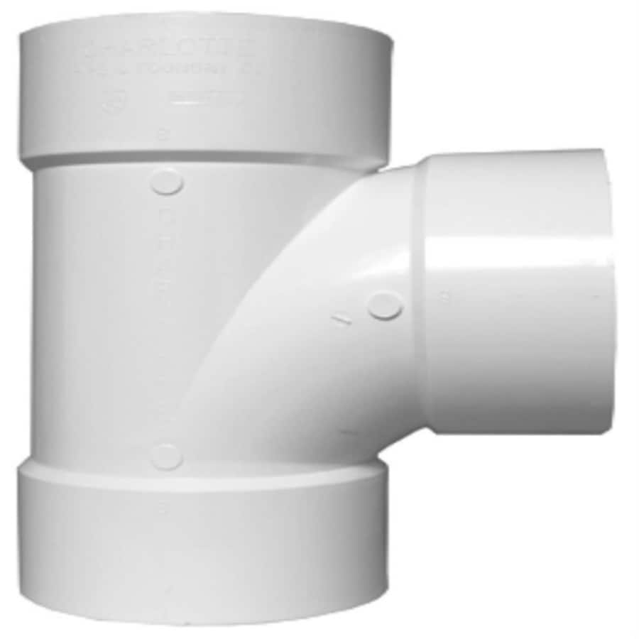 Shop charlotte pipe 6 in dia pvc schedule 40 sanitary tee for Plastic plumbing pipe types