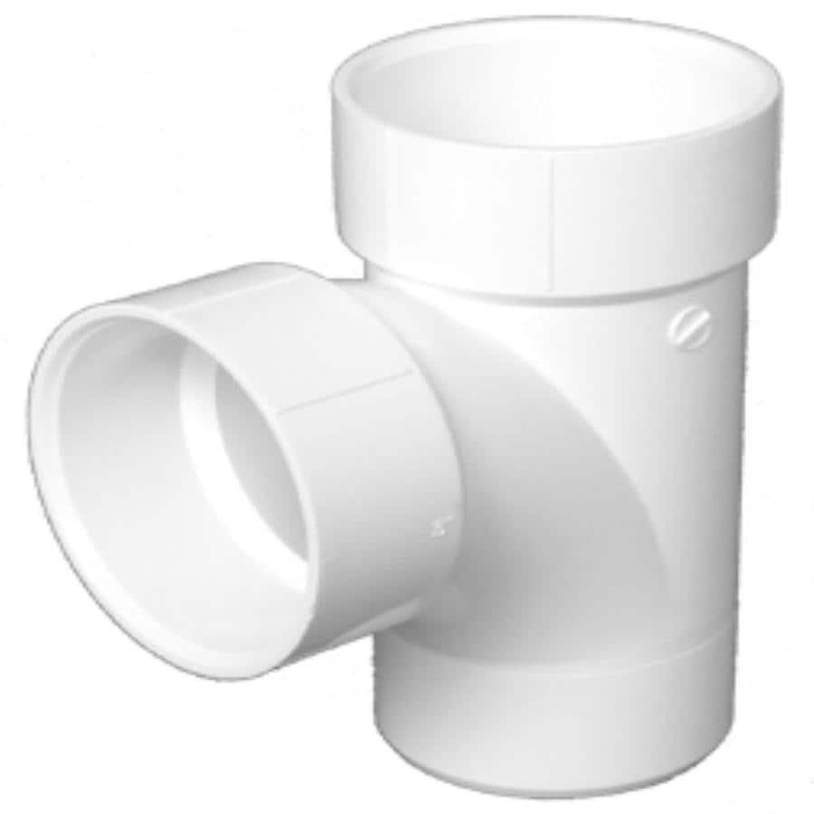 Charlotte Pipe 2-in dia 90-Degree PVC Sanitary Tee Fitting