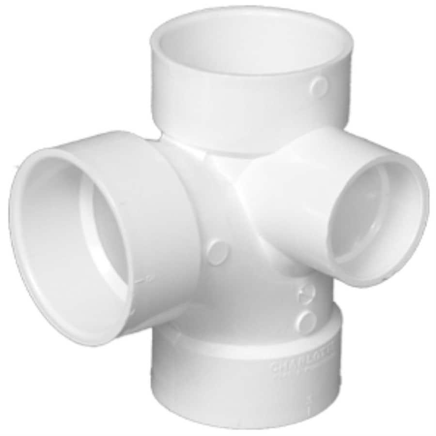 Charlotte Pipe 3X3X3X2 dia PVC Sanitary Tee Fitting