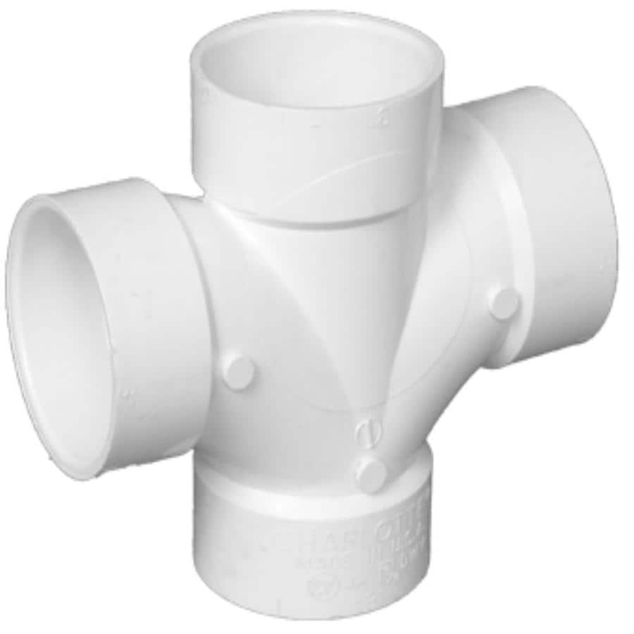 Charlotte Pipe 2-in Dia PVC Double Sanitary Tee Fitting
