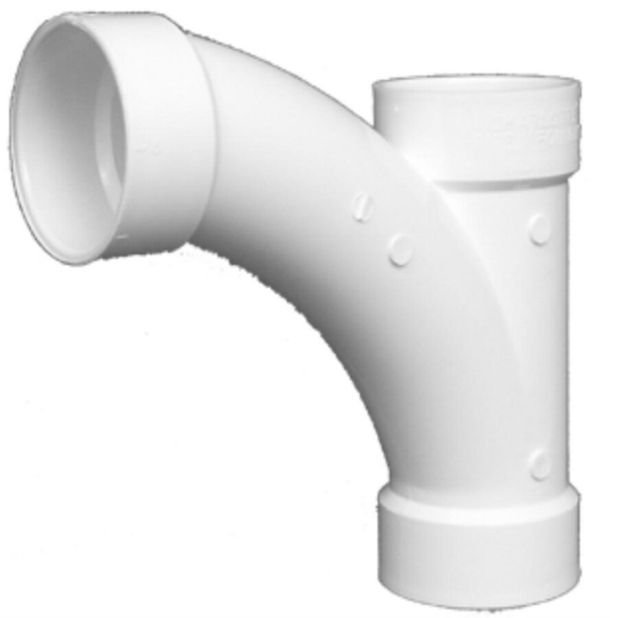 Charlotte Pipe 4-in Dia 45-Degree PVC Combo Wye Fitting