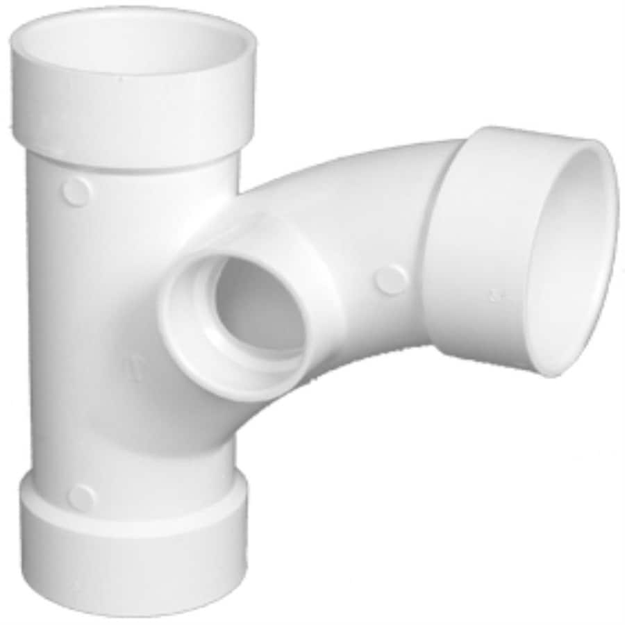 Shop charlotte pipe 2 in dia pvc schedule 40 combo wye for Plastic plumbing pipe types