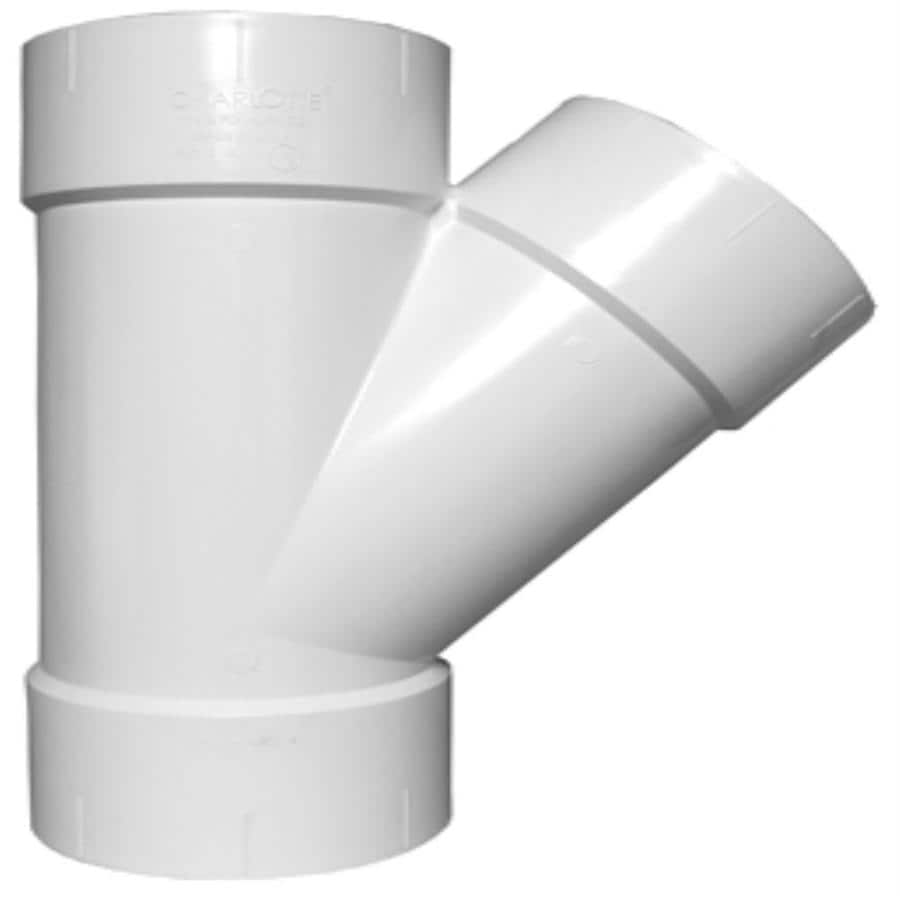 Charlotte Pipe 6-in dia 45-Degree PVC Wye Fitting