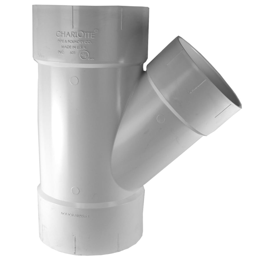 Shop charlotte pipe in dia pvc wye fitting at lowes