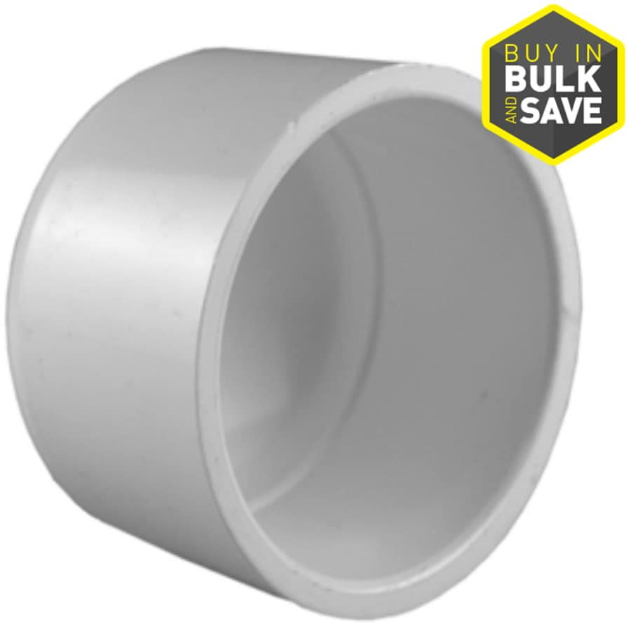 Shop charlotte pipe 4 in x 4 in pvc sch 40 cap at for Buy plastic pipe