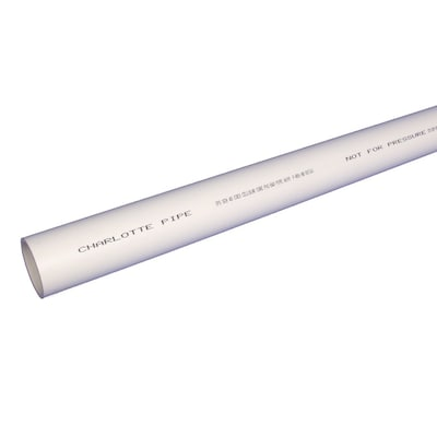 Charlotte Pipe 4-in x 10-ft Sch 40 Cellcore PVC DWV Pipe at