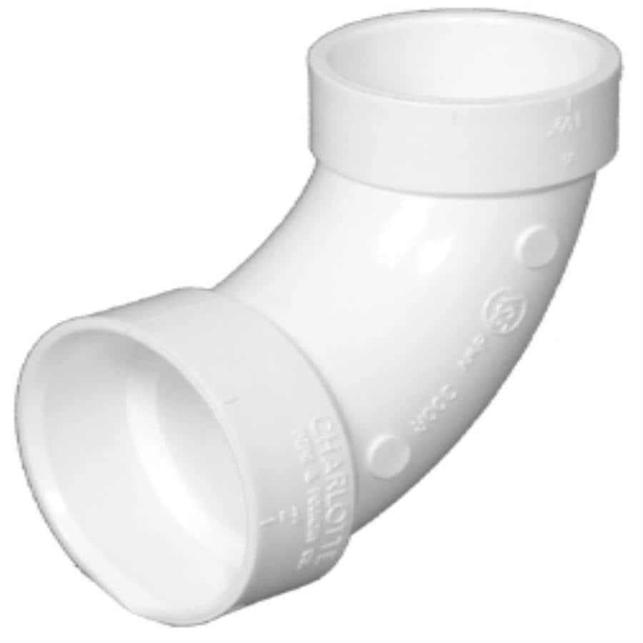 Shop charlotte pipe in dia degree pvc elbow fitting