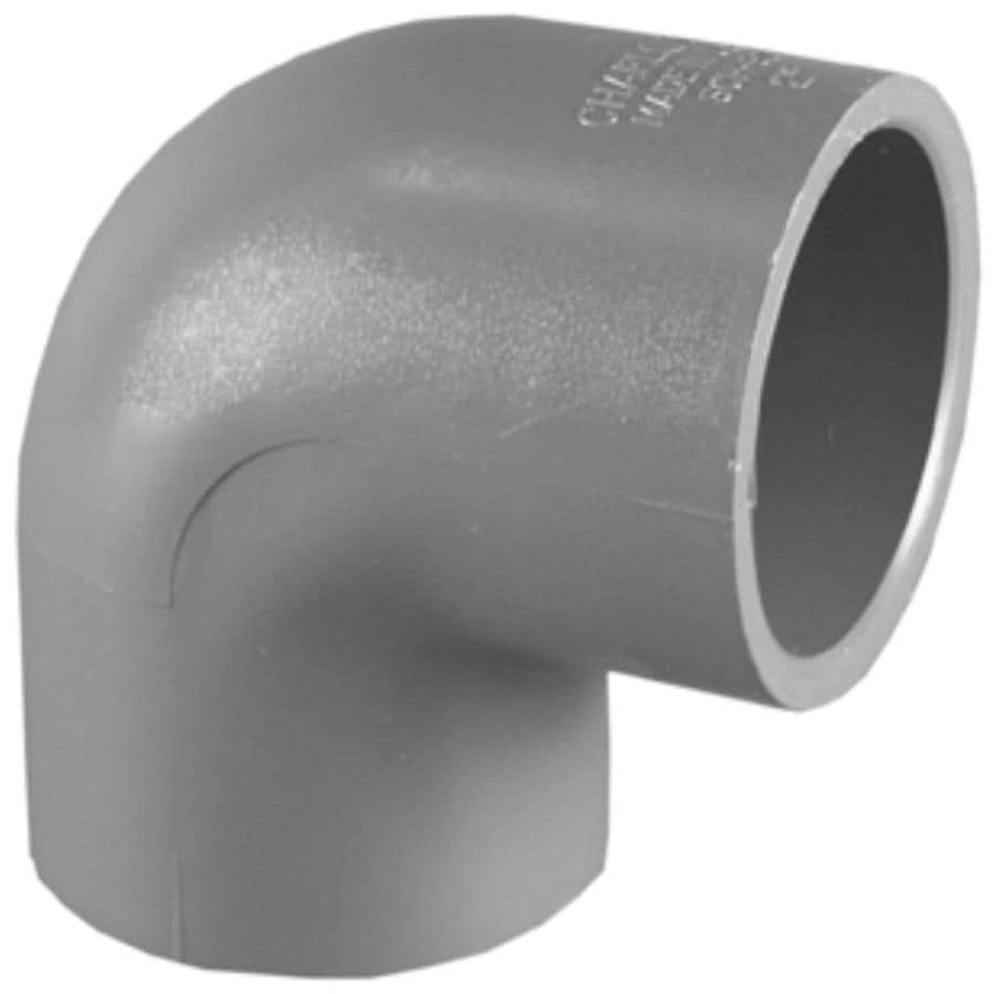 Shop charlotte pipe 1 2 in dia 90 degree pvc sch 80 elbow for Wood floor 90 degree turn