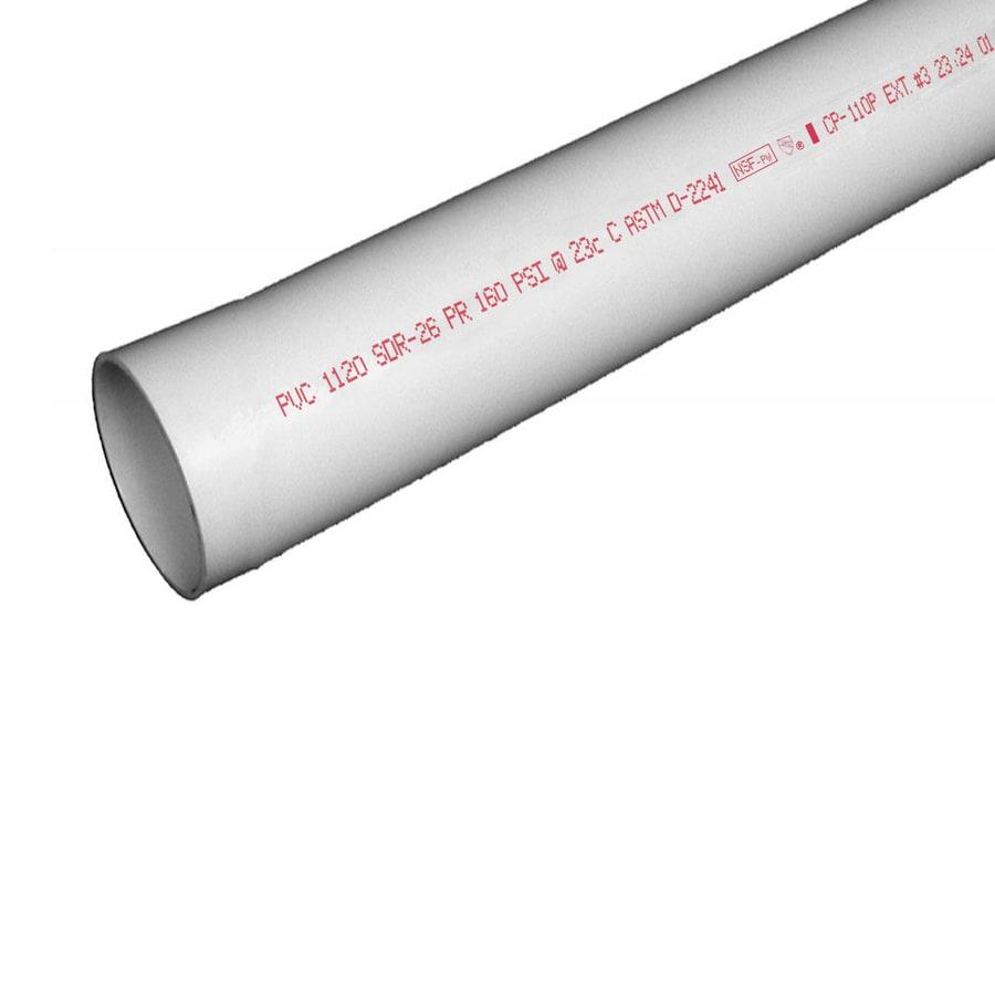 Charlotte Pipe 1-1/4-in x 10-ft 160-PSI SDR 26 PVC Pipe