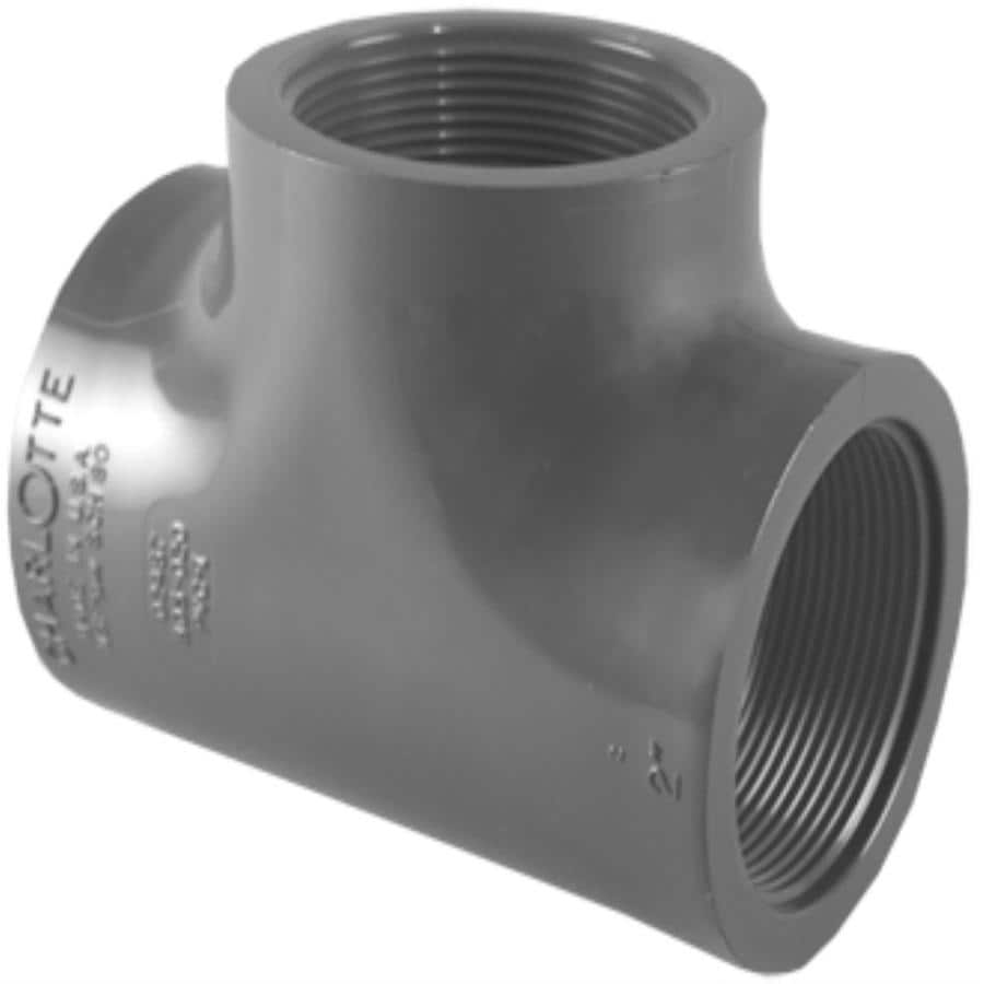 Charlotte Pipe 1-in dia PVC Sch 80 Tee