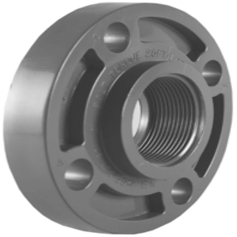 shop charlotte pipe 1-in dia pvc sch 80 floor flange at lowes