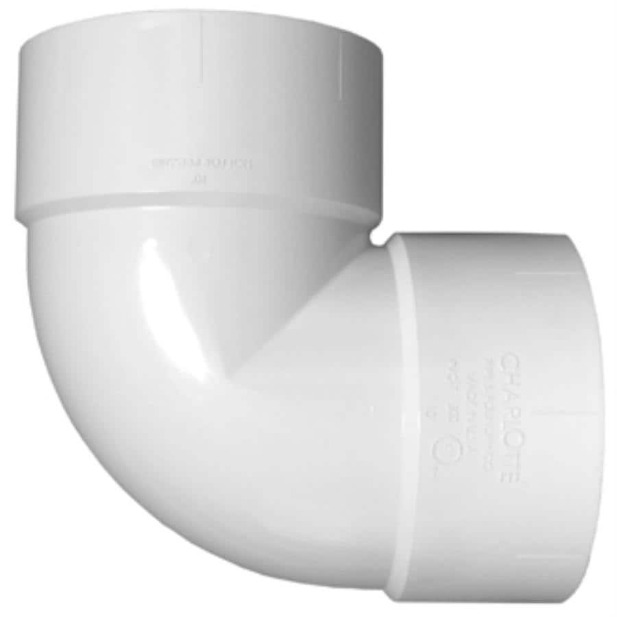 Charlotte Pipe 12-in dia 90-Degree PVC Vent Elbow Fitting