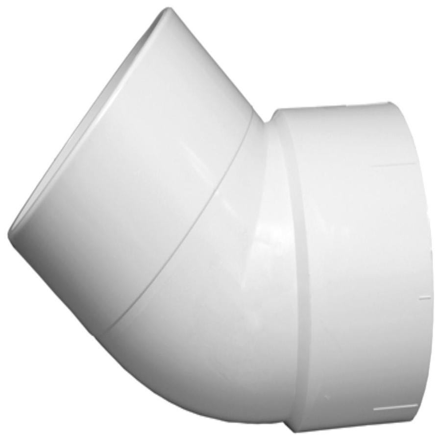 Charlotte Pipe 10-in dia 45-Degree PVC Street Elbow Fitting