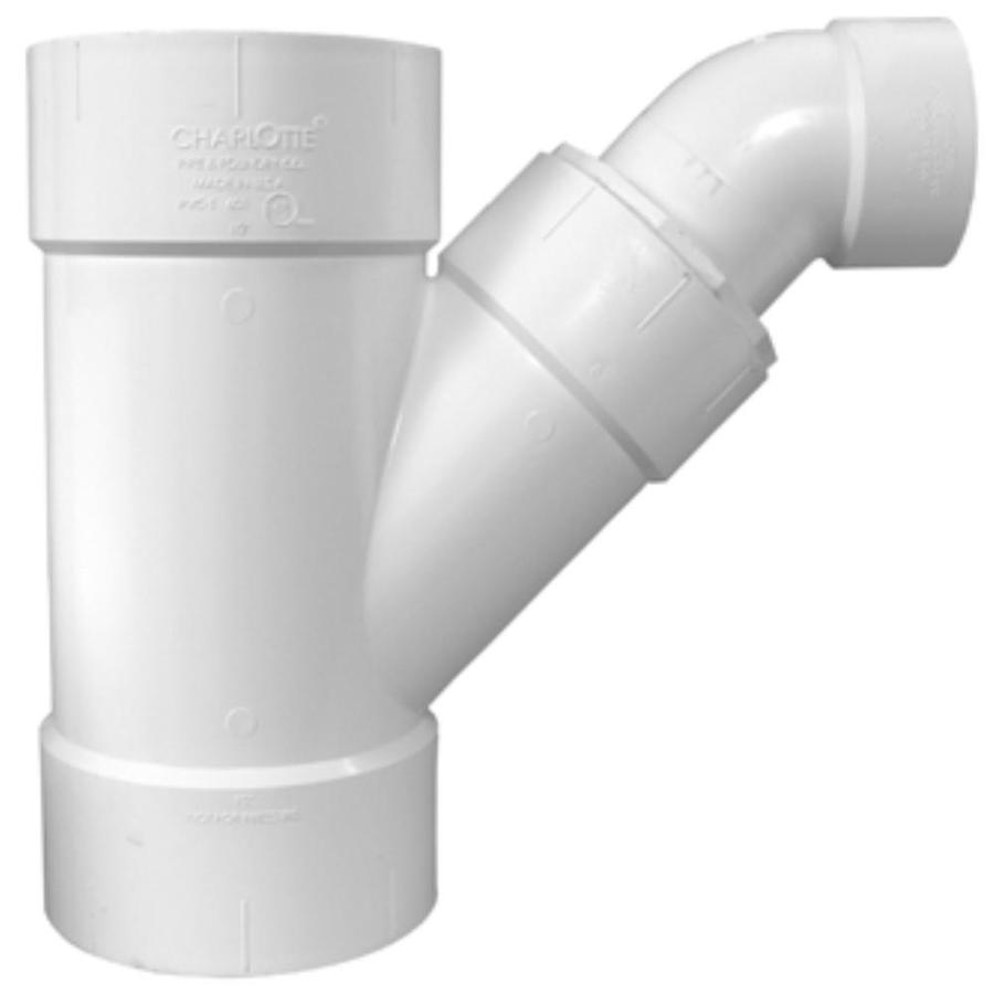 Charlotte Pipe 10-in x 10-in x 8-in dia PVC Combo Wye Fitting