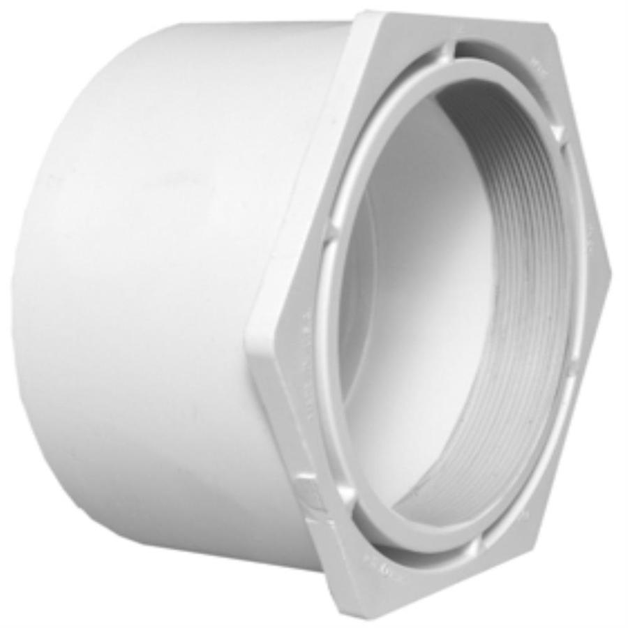 Charlotte Pipe 12-in x 8-in dia PVC Cleanout Adapter Fitting