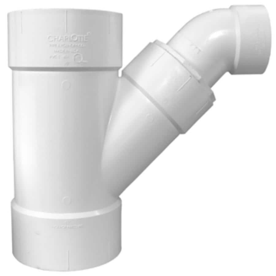 Charlotte Pipe 10-in dia PVC Combo Wye Fitting