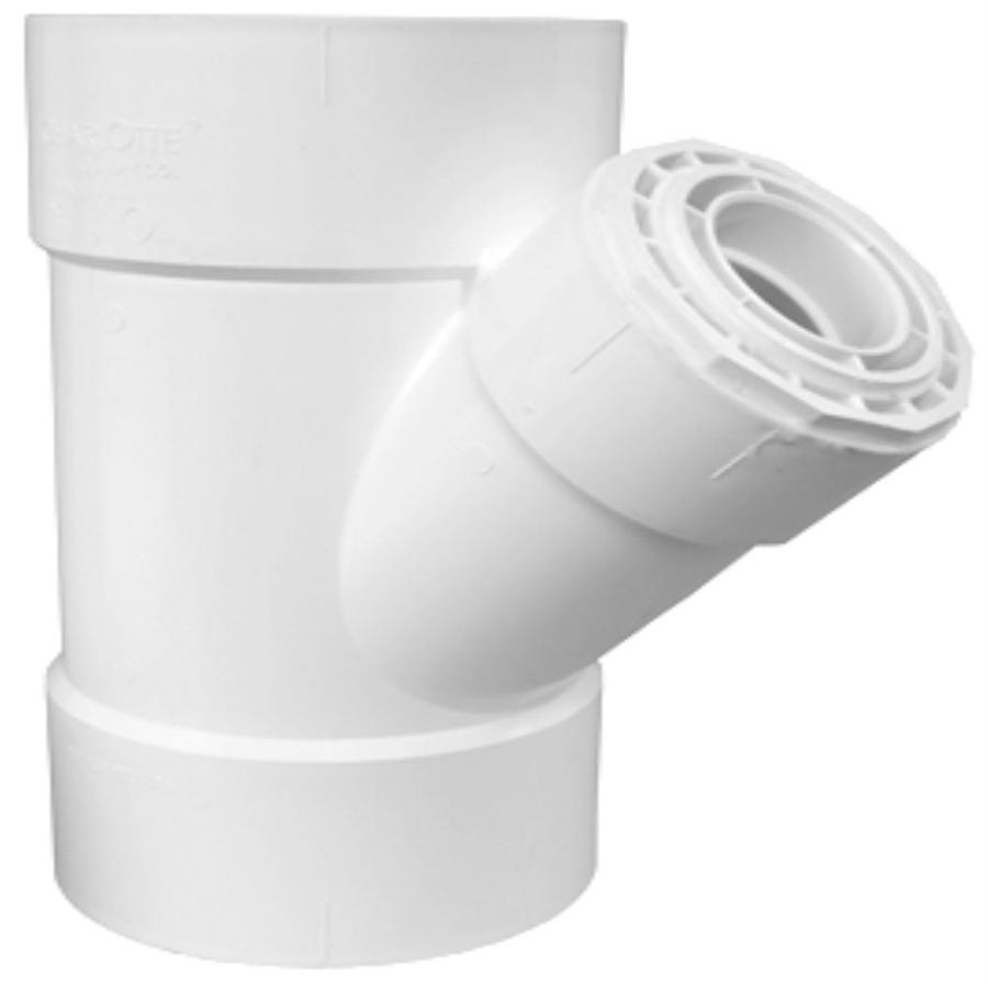 Charlotte Pipe 10-in x 10-in x 6-in x 6-in dia PVC Reducing Wye Fitting