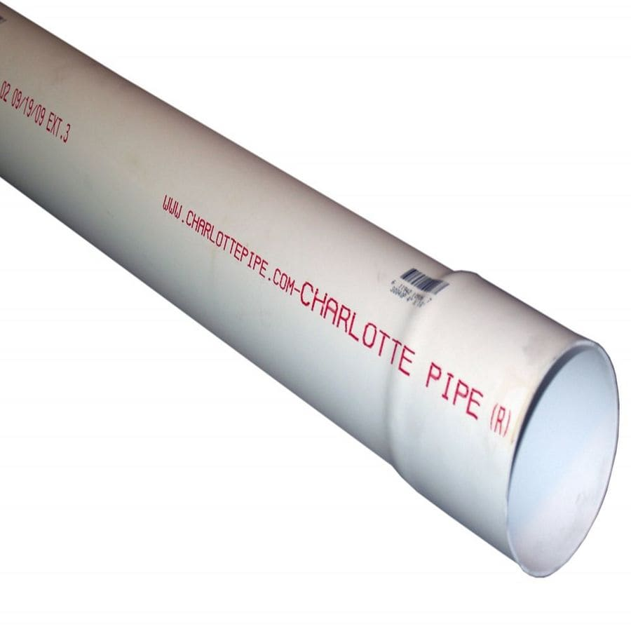 4-in x 10-ft Solid PVC Sewer Drain Pipe