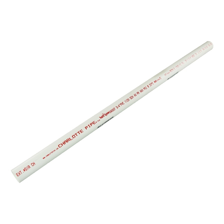 Charlotte Pipe 3/4-in x 2-ft 480 Schedule 40 PVC Pipe