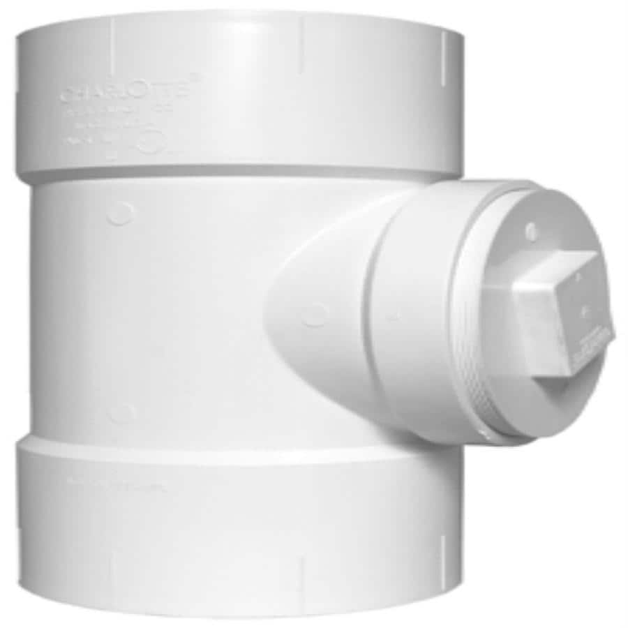 Charlotte Pipe 8-in x 8-in x 6-in dia PVC Sanitary Tee Fitting