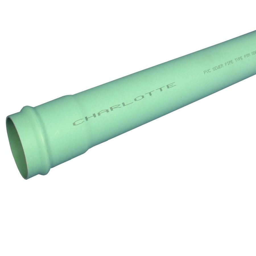 Charlotte Pipe 4-in x 14-ft Solid PVC Sewer Drain Pipe